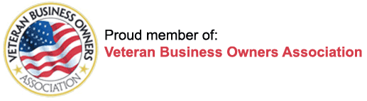 Proud member of the Veteran Business Owners Association